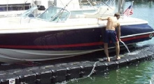 Watercraft maintenance on a boat dock from JetDock