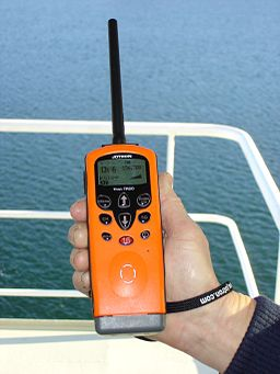 handheld VHF emgergency radio for a boat