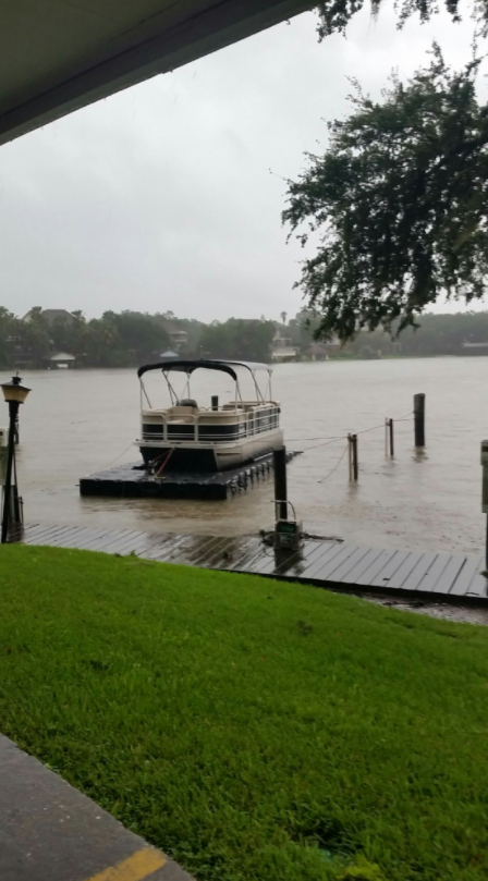Jet Dock surviving hurricane Harvey in Houston, TX