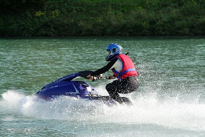 jet skiing during the summer