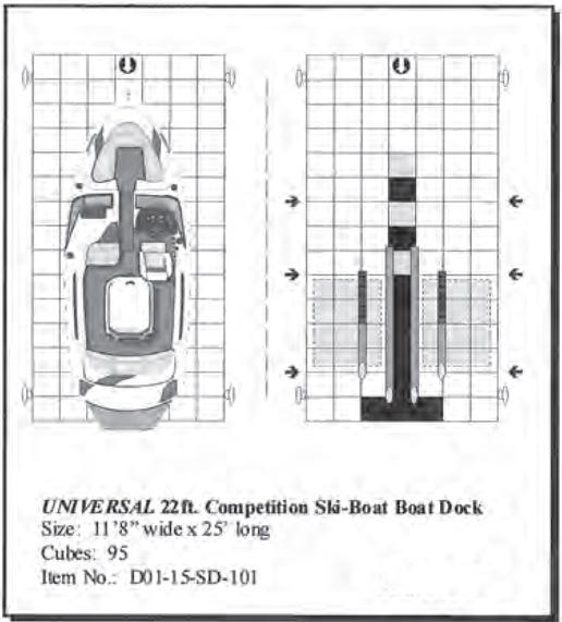 universal 22 u0026 39  drive on competition ski floating boat dock