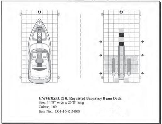regulated buoyancy cell 23 u0026 39  floating boat dock