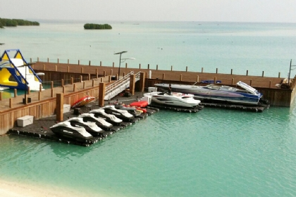 Combination Floating Boat Lift & PWC Lift by JetDock