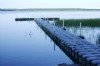 Conventional floating dock on lake: Jet Dock